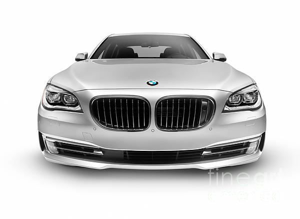 Bmw 7 Series 750li Individual Luxury Car Front View Greeting Card
