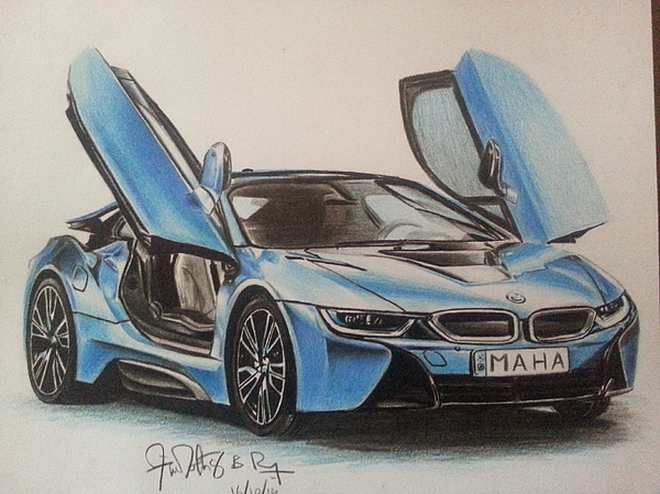 Bmw I8 Duvet Cover For Sale By Timothy Raj