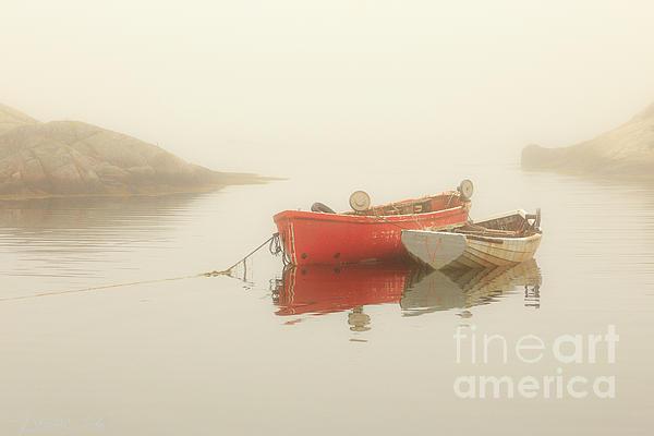 Csaba Demzse - Boats in the fog