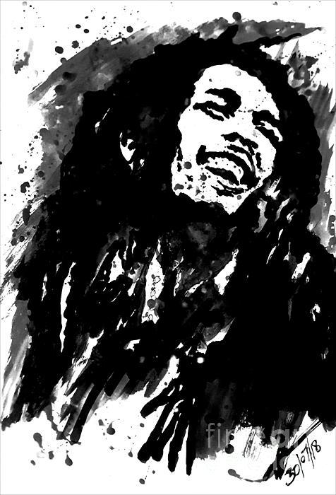 Collin A Clarke - Bob Marley Silhouette