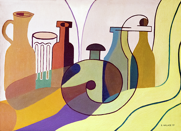 Brian Wallace - Bottles And Glass - Cubism