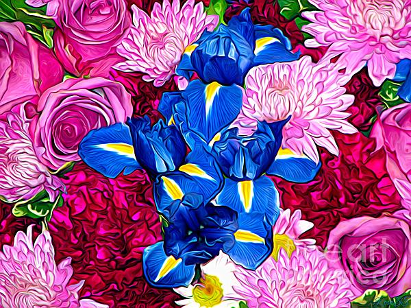 Rose Santuci-Sofranko - Bouquet of Flowers Expressionistic Effect