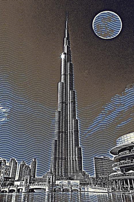 Burj Khalifa Emirates Dubai Travel Poster 4 Iphone 6 Plus Case