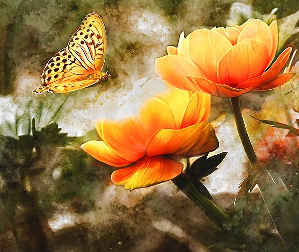 Love Art - Butterfly and the Flower Garden
