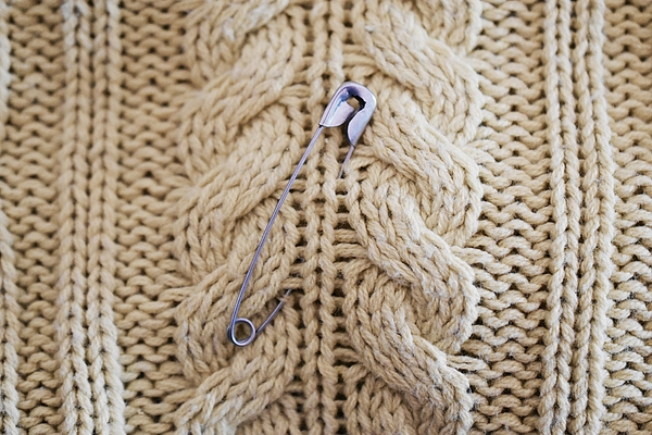 Cable Knit Safety Pin Photograph