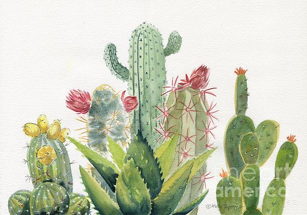 Melly Terpening - Cactus Watercolor