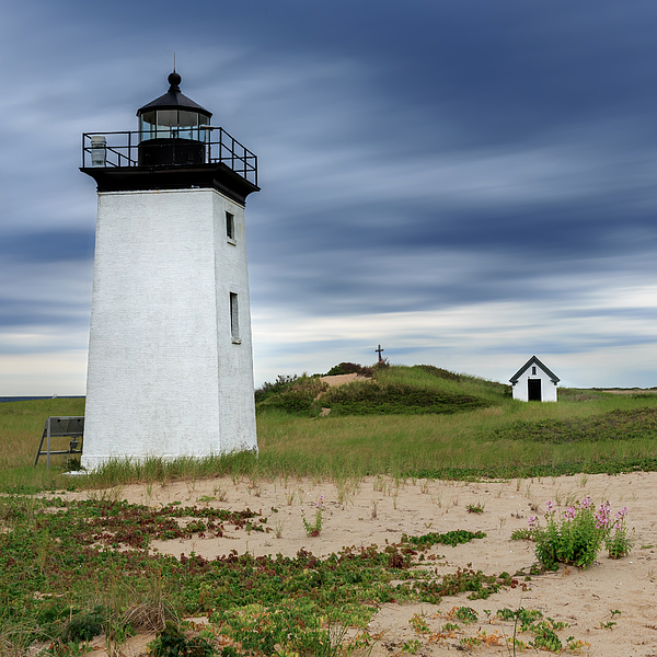 Cape Cod Long Point Lighthouse Square Tapestry