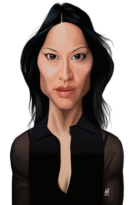 Celebrity Sunday Lucy Liu T Shirt For Sale By Rob Snow