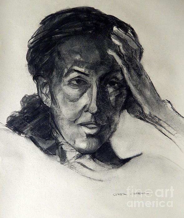 Greta Corens - Charcoal Portrait of an Artist