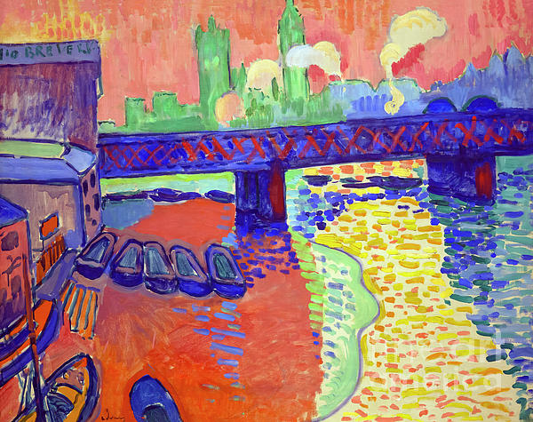 Peter Barritt - Charing Cross Bridge, London, Andre Derain, 1906, National Galle