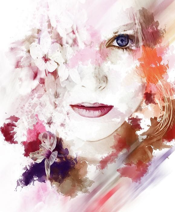 Photo Design AJ - Cherry Sakura  Girl
