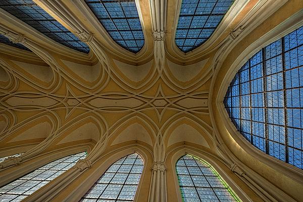 Stuart Litoff - Church Windows and Ceiling - Czechia
