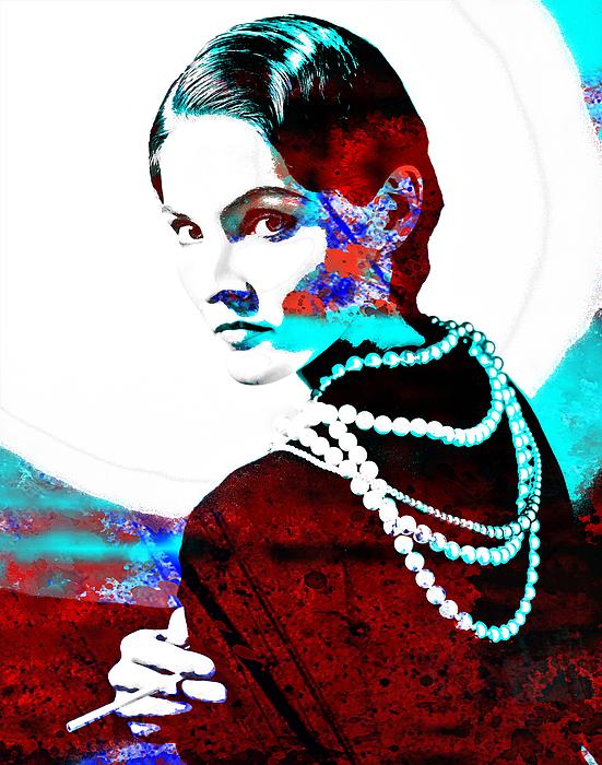 6e702fdf Coco Chanel Hommage Throw Pillow