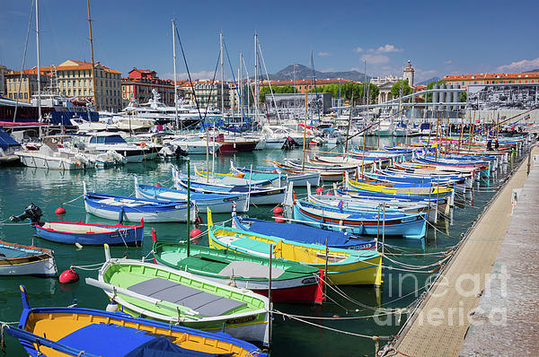 Liesl Walsh - Colorful Boats Docked in Nice Marina, France