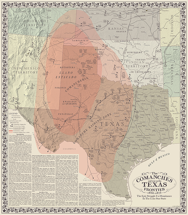 Comanches And War On The Texas Frontier Greeting Card For Sale By Al White
