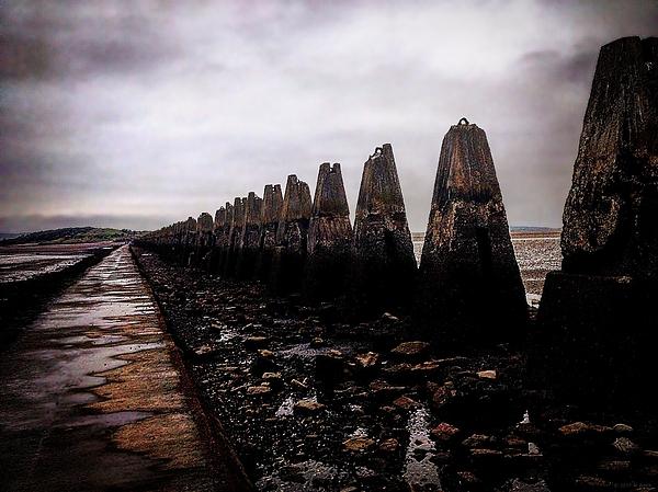 M Welch - Cramond Causeway Pylons