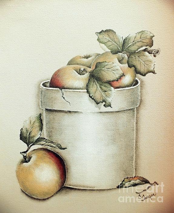 Cindy Treger - Crock of Apples - Vintage