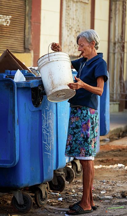 Joan Carroll - Cuban Woman With Cigar