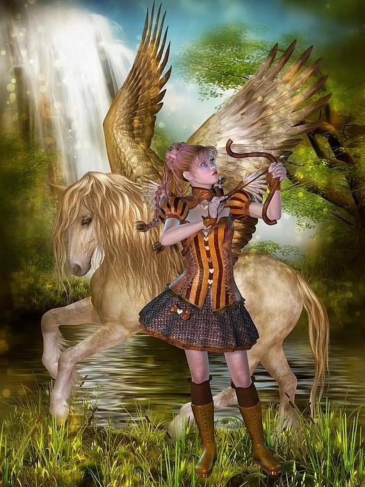 Patricia Beil - Cupid and Pegasus
