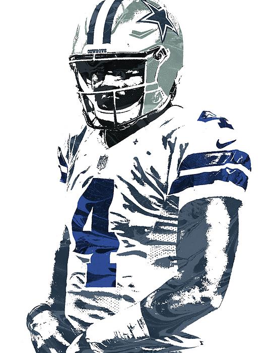 Dak Prescott Dallas Cowboys Pixel Art 4 Shower Curtain For