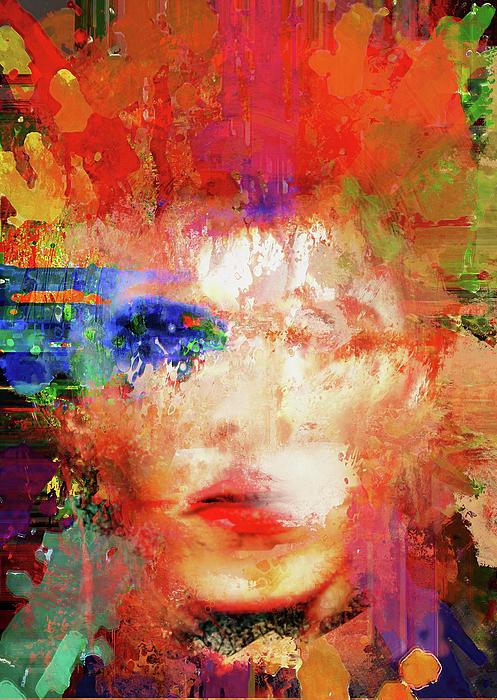 Big Fat Arts - David - Abstract Expressionist David Bowie Portrait