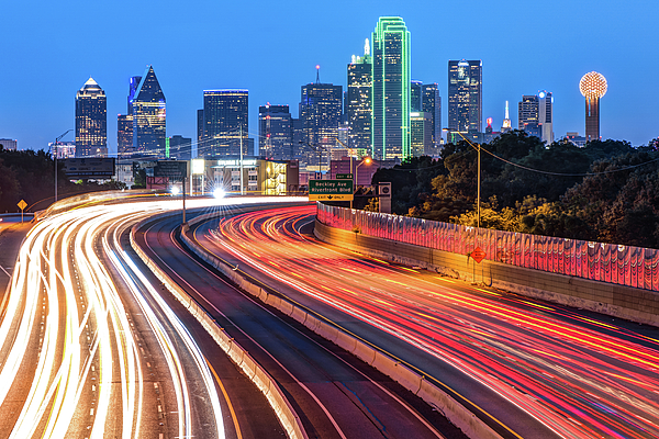 Gregory Ballos - Dawn at the Dallas Skyline - Texas Cityscape