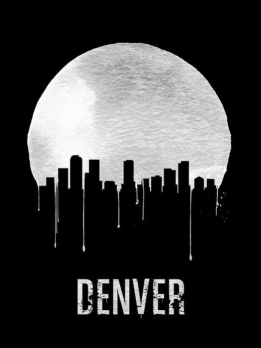 Naxart Studio - Denver Skyline Black