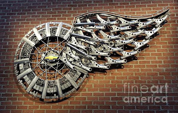Art Kurgin - Detroit Red Wings Chevrolet Parts Sculpture