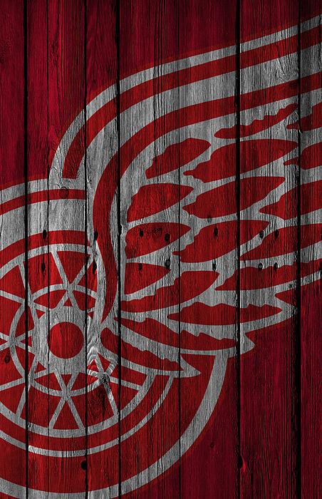 Joe Hamilton - Detroit Red Wings Wood Fence