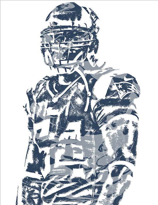 Donta Hightower New England Patriots Pixel Art 1 Greeting Card