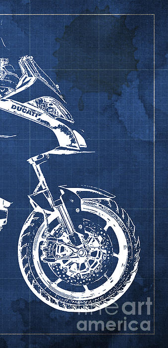 Ducati multistrada 1200 blueprint 3 of 3 t shirt for sale by pablo click and drag to re position the image if desired malvernweather Images
