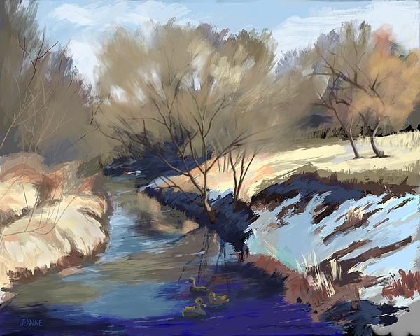 Jeanne Cutler - Ducks on Turkey Creek