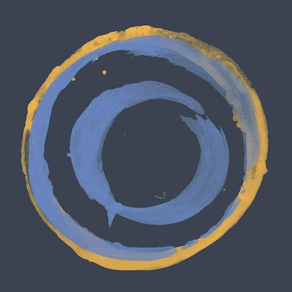 Enso T Blue Orange Painting