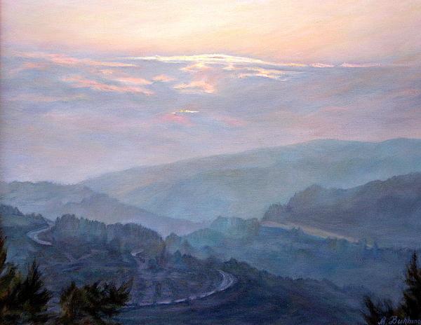 Maya Bukhina - Evening in the mountains.