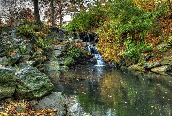 Geraldine Scull - Fall in central Park, NYC at falls