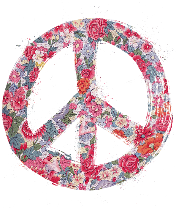 Far Too Pretty Peace Symbol 1 Shower Curtain For Sale By