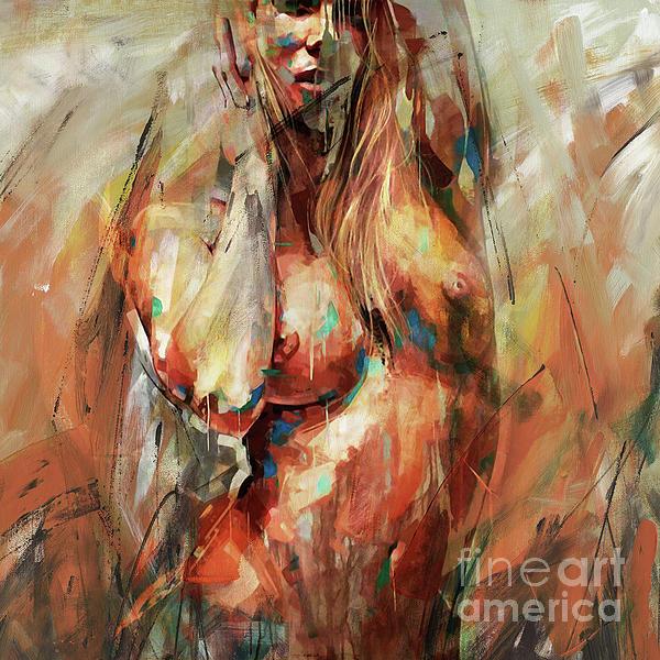 Female nude artwork