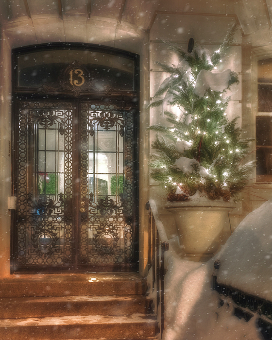 Joann Vitali - Festive Winter Doorway - Back Bay - Boston