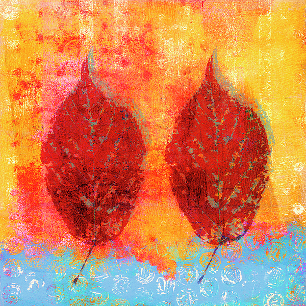 Carol Leigh - Fiery Fall Color Cherry Leaves