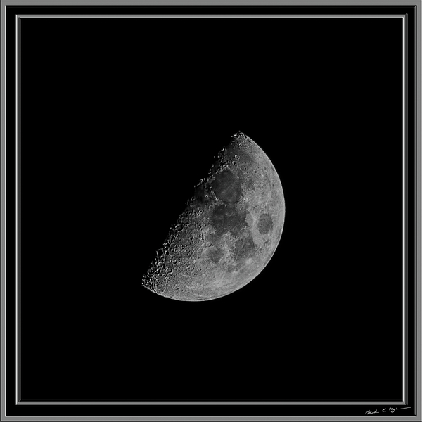 First Quarter Moon 53 Photograph
