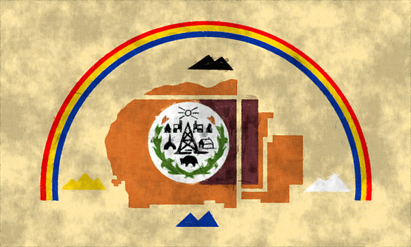 flag of navajo nation greeting card for sale by world art prints and