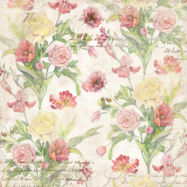 Fleurs De Pivoine Watercolor In A French Vintage Wallpaper Style Iphone 7 Plus Case