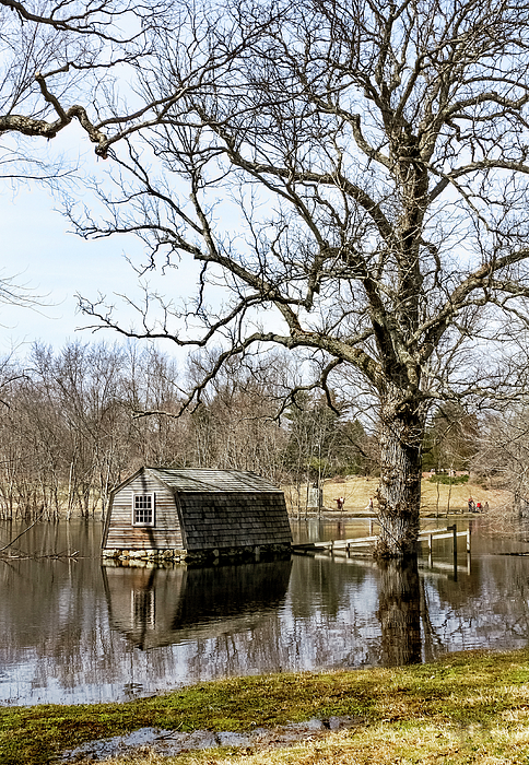 Betty Denise - Flooded Boathouse at The Old Manse