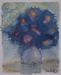 Flowers At Night Original Abstract Gothic Surreal Art Painting