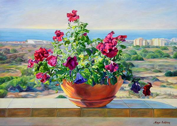 Maya Bukhina - Flowers on the balcony