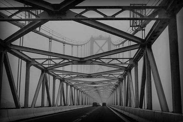 Sharon Horn - Foggy Chesapeake Bay Bridge