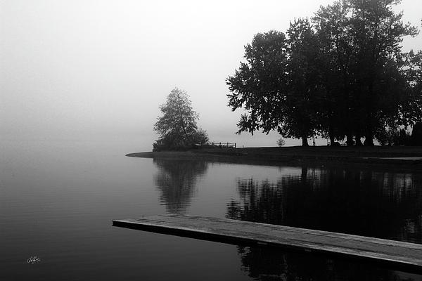 Cheryl Rose - Foggy Lake in BW