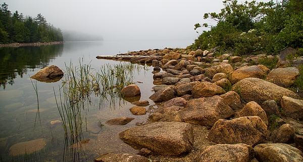 Kevin Craft - Foggy Morning on Jordan Pond