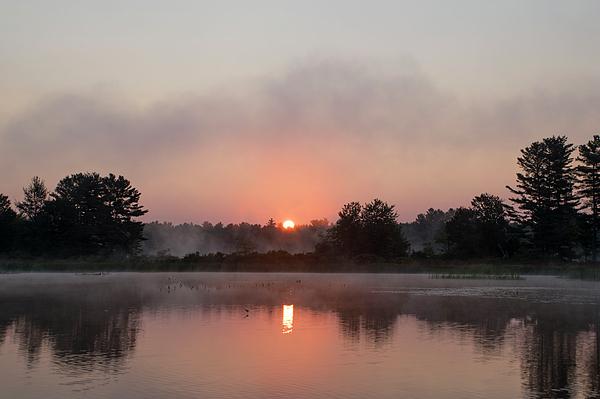 Jan Mulherin - Foggy Sunrise on the Androscoggin River