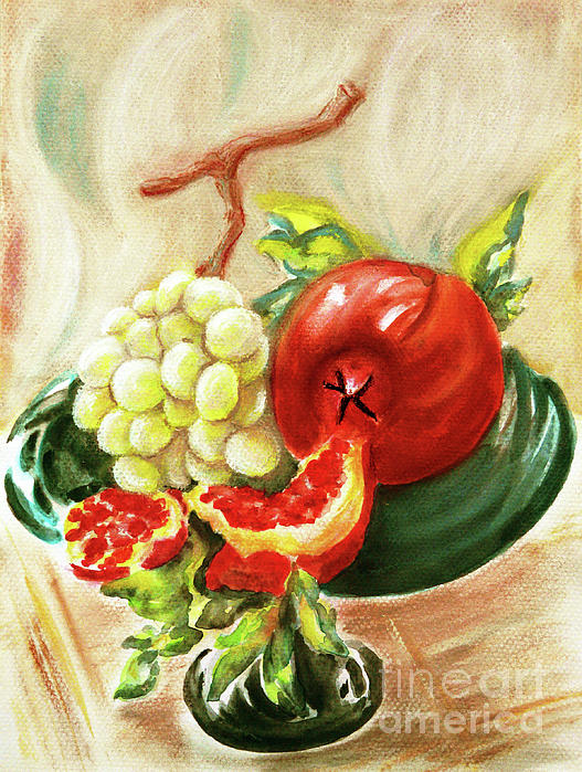 Jasna Dragun - Fruit On A Green Stand